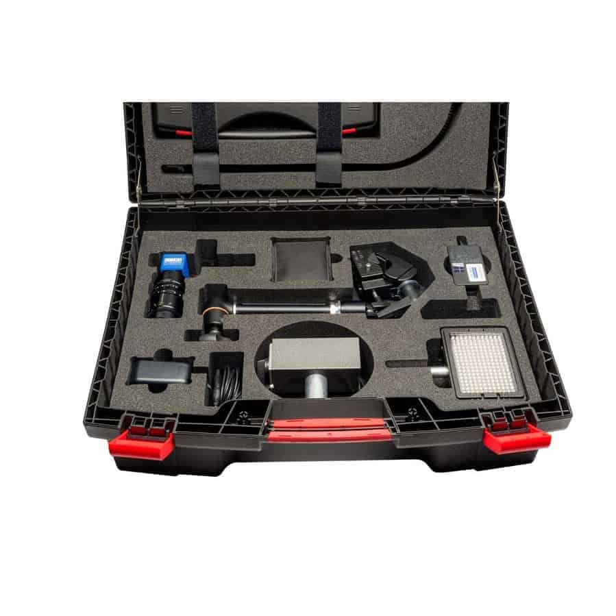 High speed camera TroublePad in its carrying case